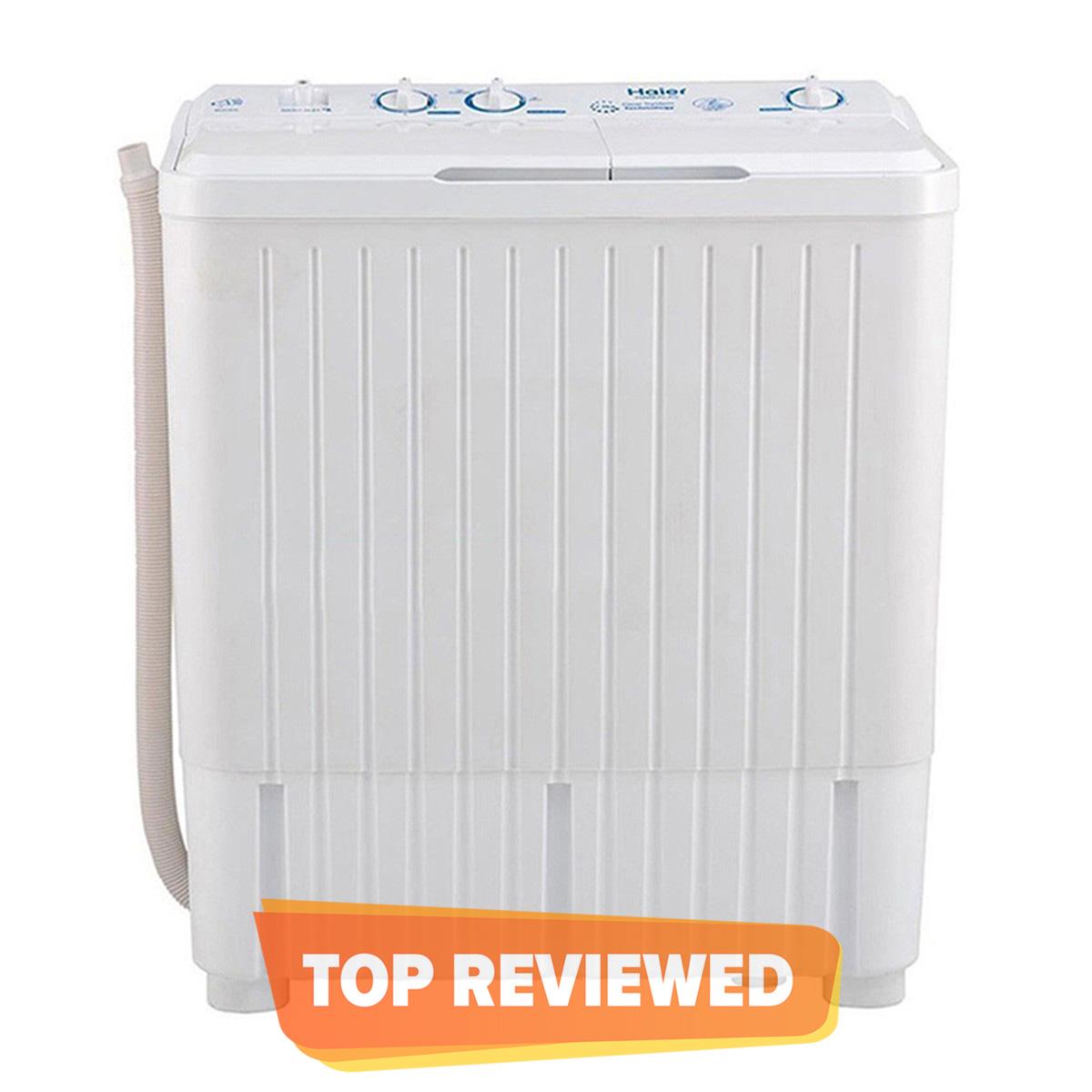 Haier 7.5 kg - Twin Tub Top Load Semi Automatic Washing Machine HWM 75-AS - White