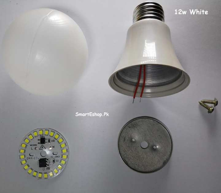 12W LED BULB White RAW MATERIAL Churi Type -E27