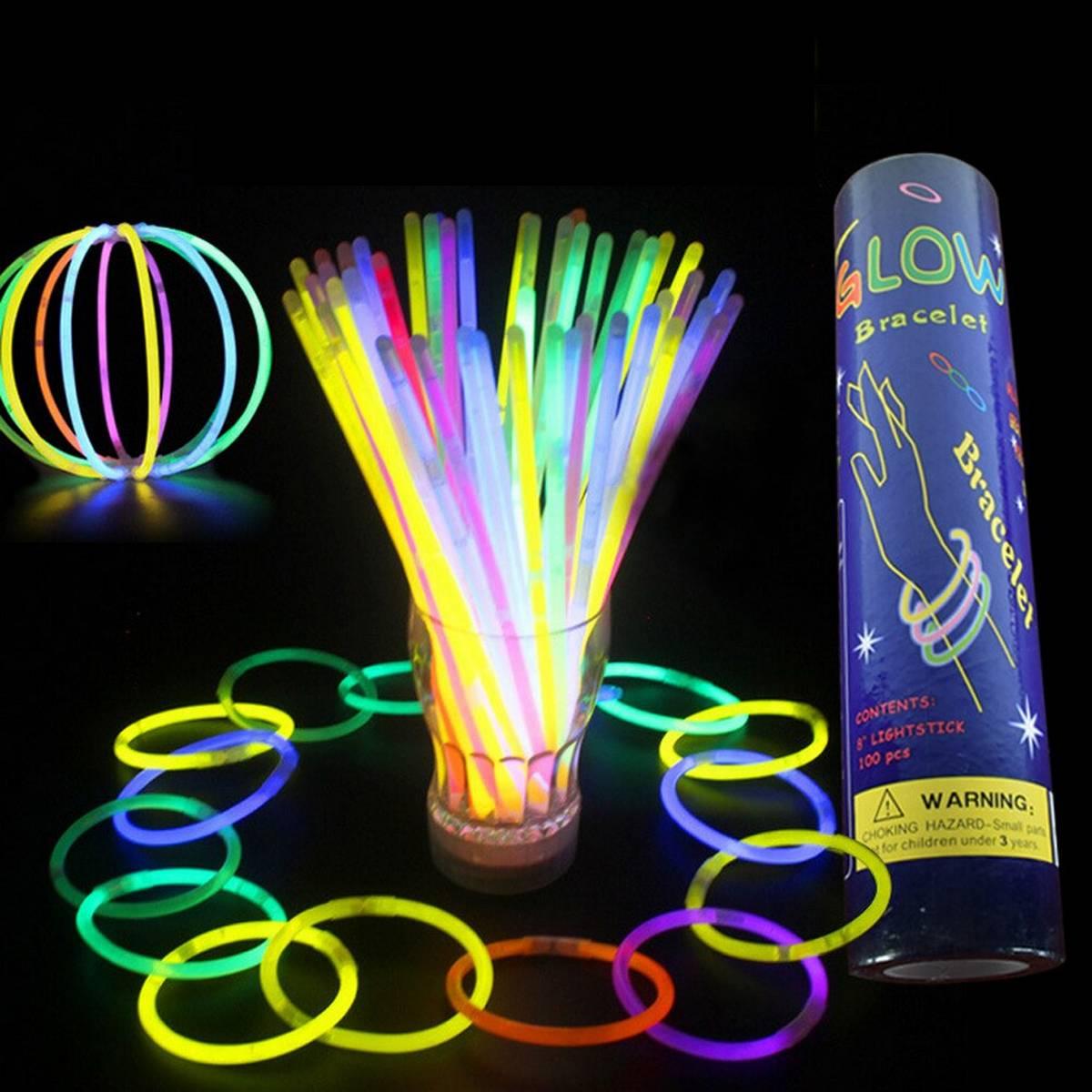 20 Pcs Glowing Sticks Bracelets Multicolor Stick for Wedding Party