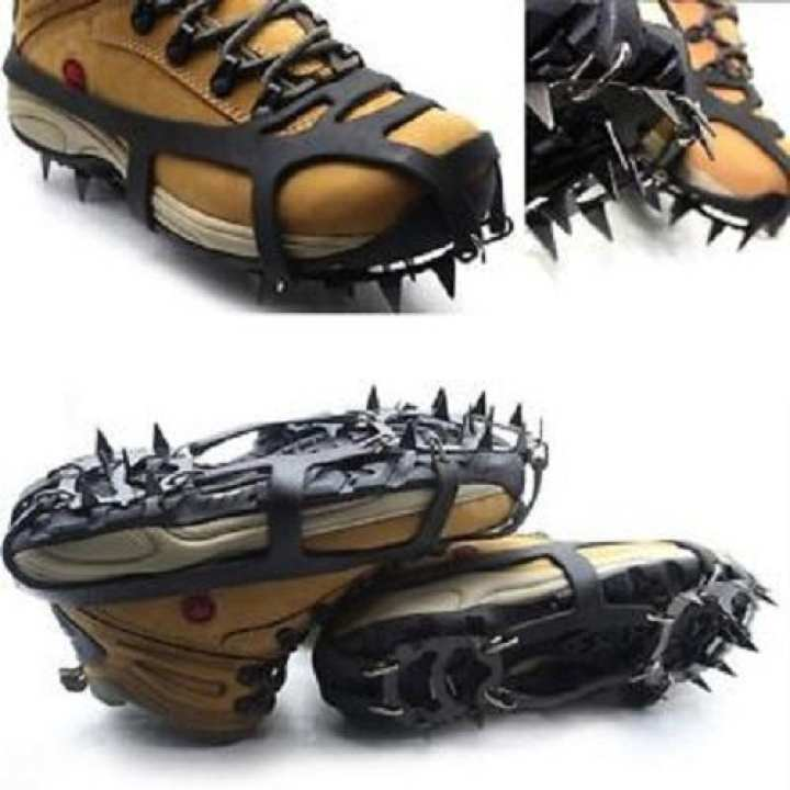 Boot Grips Snow Gripper Ice Cleats 18 Spikes Anti Slip Crampons