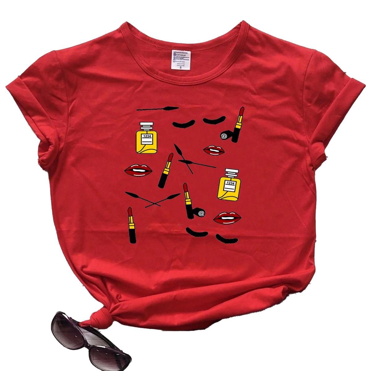 Makeup Printed T shirt For Women