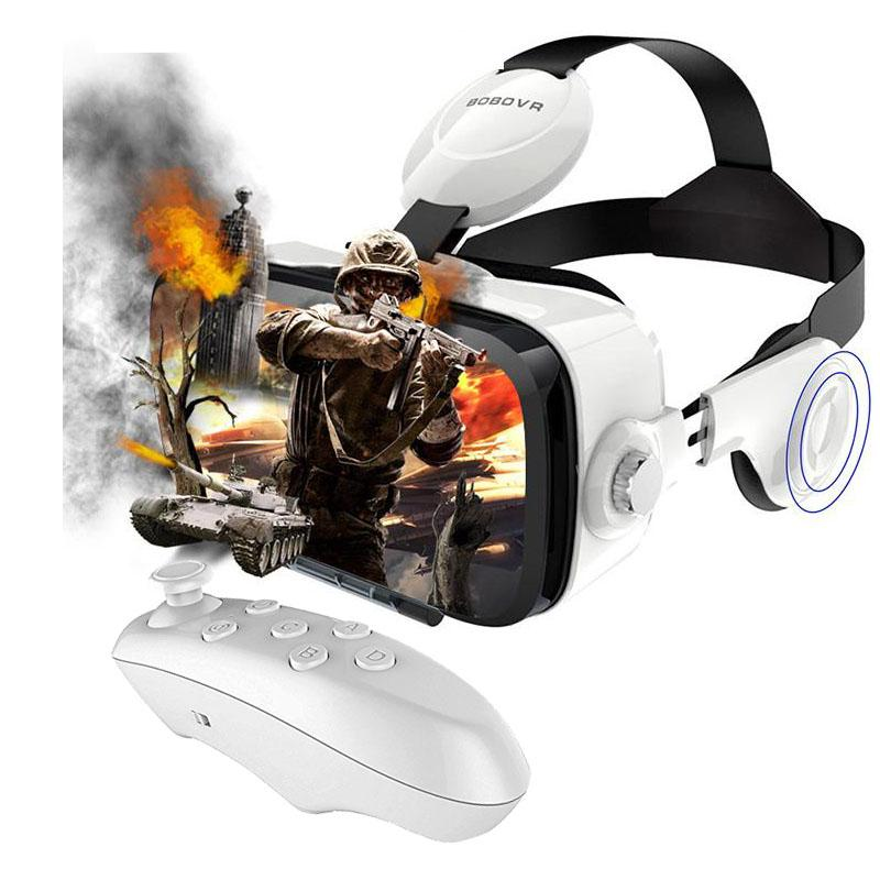 Vrbox Z4 Glasses With Headphone And Remote - Black & White