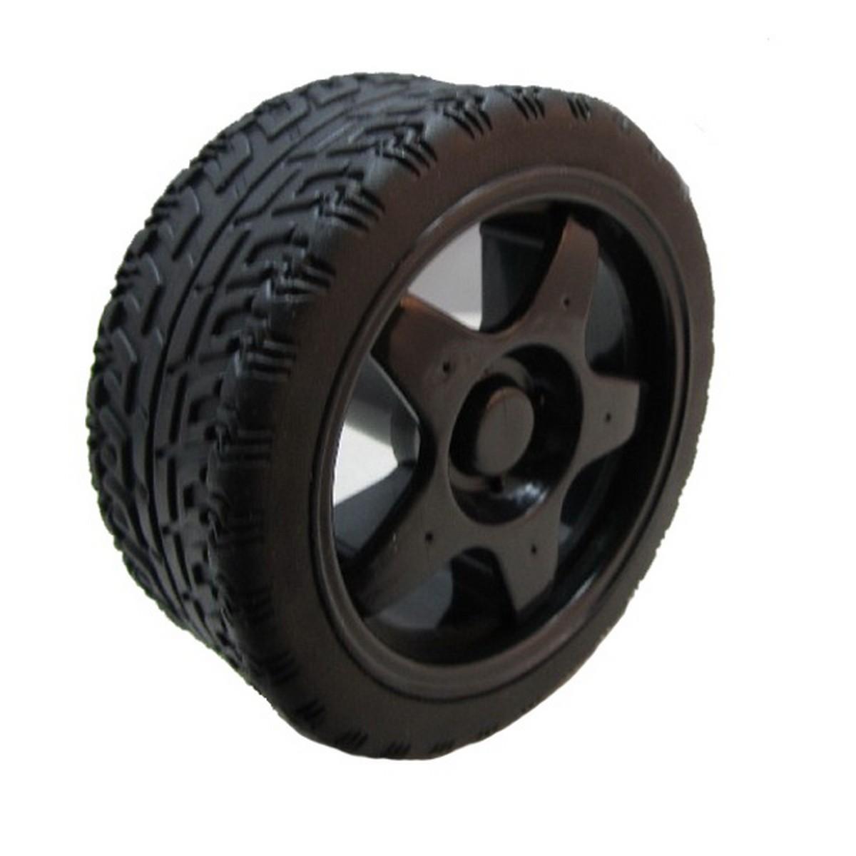 Black Tyre Wheel for Smart Robotic Car