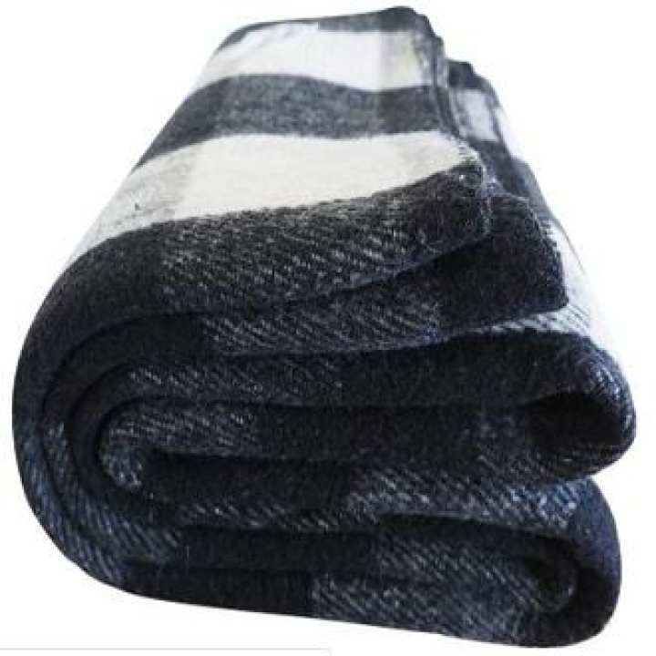 Military Style Wool Blend Blankets- 60 x 80 inches