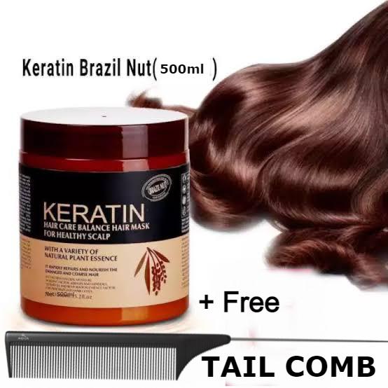 Keratin Hair Mask 500ml For Men & Women (Hair Care Balance Hair Mask For Healthy Scalp)