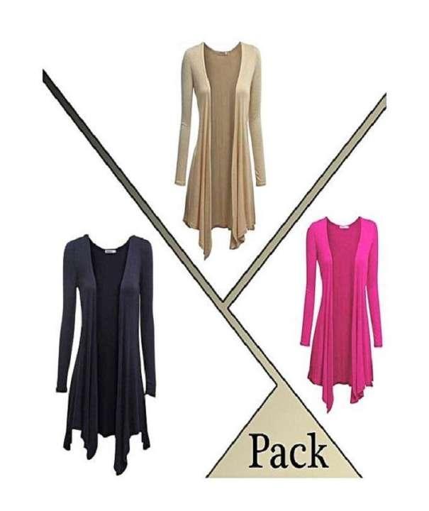 Pack Of 3 - Long Shrugs For Women