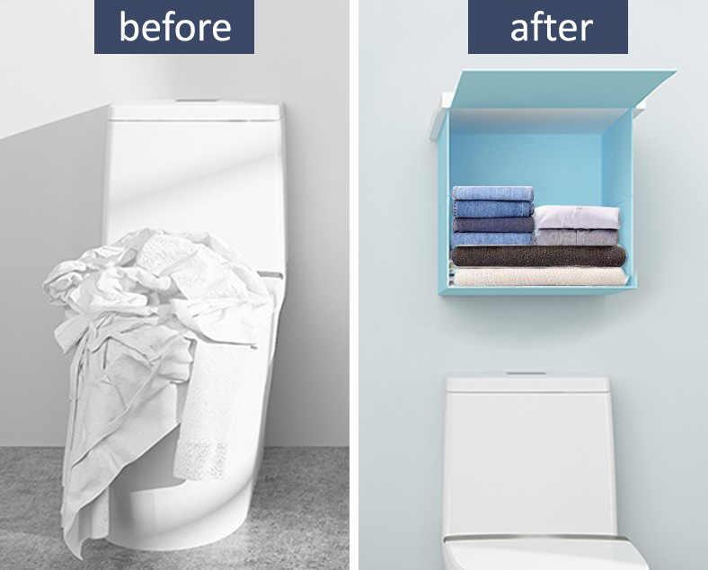 Bathroom Folding Storage Cabinet bathroom Shower Clothes Storage  Waterproof: Buy Online at Best Prices in Pakistan | Daraz.pk