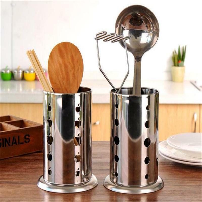 a398d0ddb Stainless Steel Kitchen Sink Storage Racks Crockery Cutlery Chopsticks Spoon  Fork Stationery Cosmetic Storage Racks Holder
