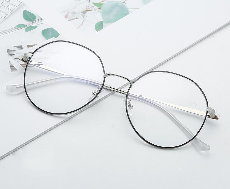 b83cdad16 Designer Glasses Optical Frames Metal Round Glasses Frame Clear lens Eye  wear