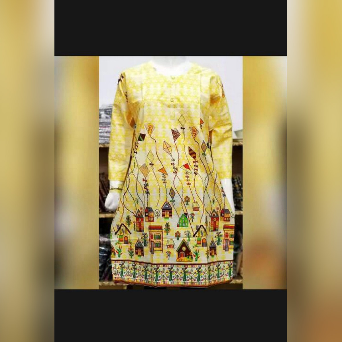 Select & Buy Printed Lawn Kurti For Ladies and Girls, Women Good Quality FAbric Fashion Style Trending