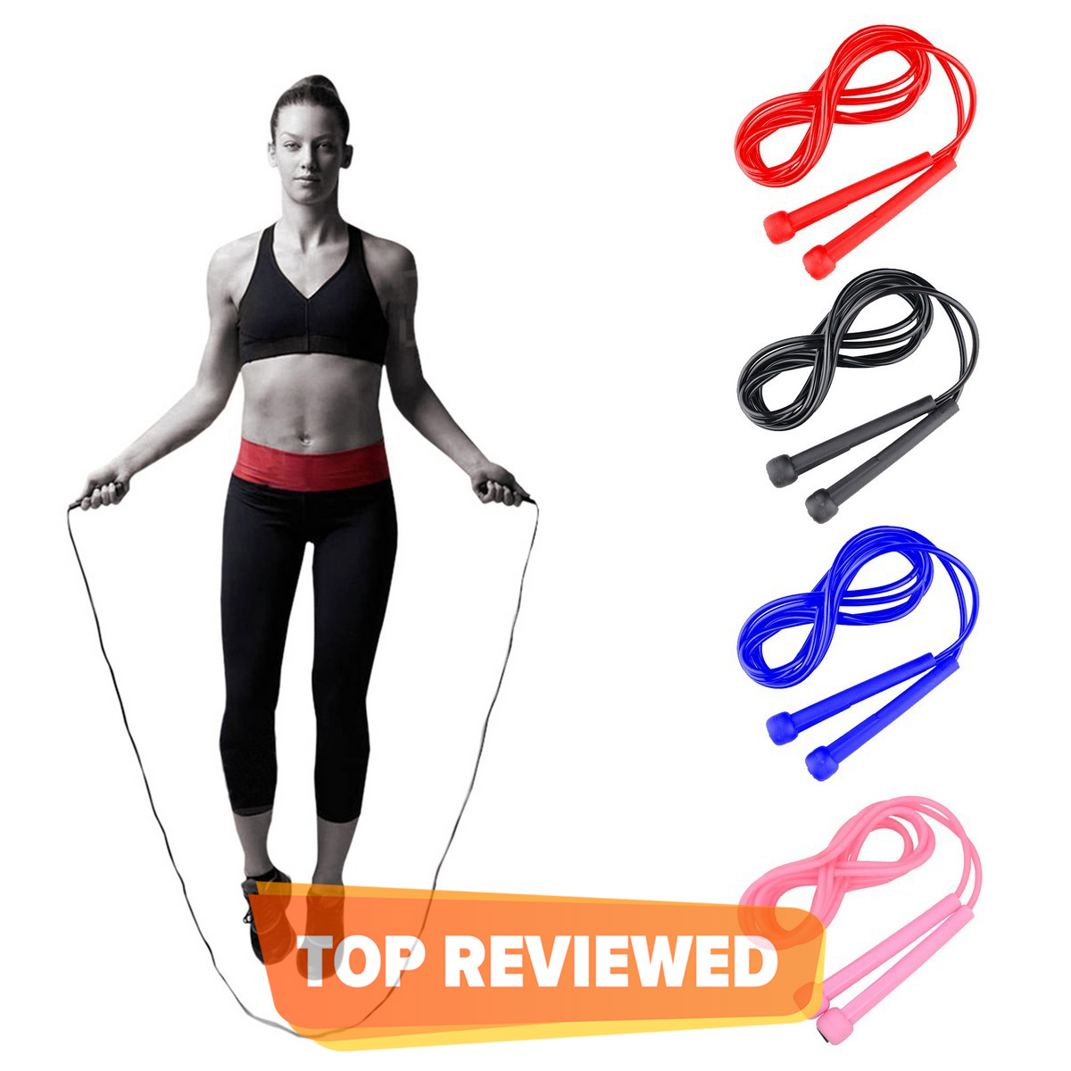 Skipping Rope Adjustable Jumping Rope Fitness Speed Gym Adults Girls Kids Men