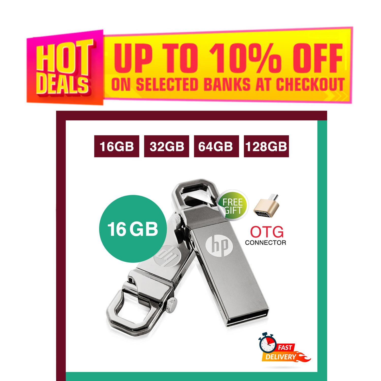 HP 16/32/64 GB USB High Speed 3.1 Flash Memory Stick USB Drive + FREE OTG adapter - 6 Months WARRANTY