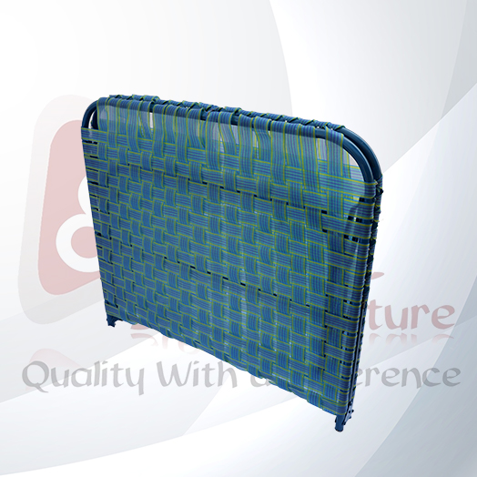 Folding Bed - Blue & Red(Folding Cot)