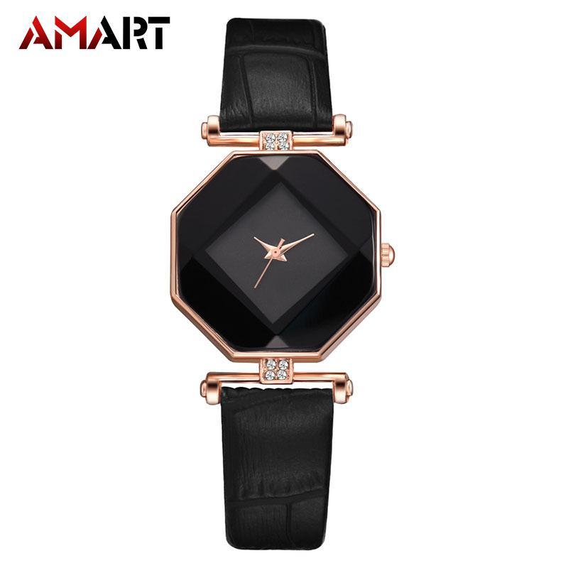 ef3af702315 Amart-D 1 Pcs Women Lady Girl Wrist Quartz Watch PU Strap Fashion Gift for