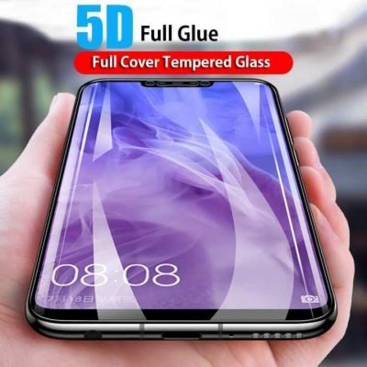 Huawei Y9 2019 5D glass Protector Full Screen Cover Glass - Black