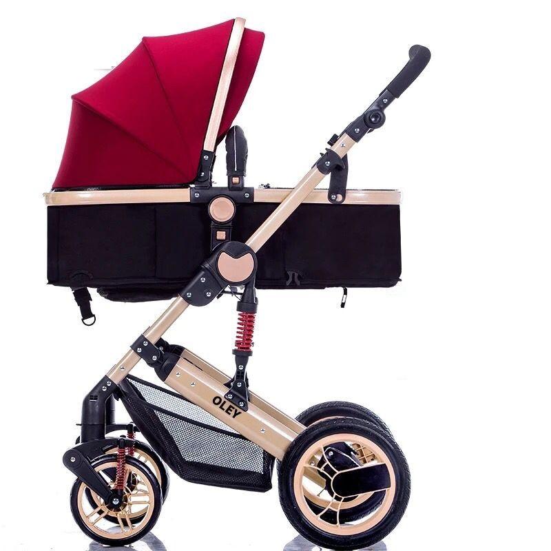 Portable High-view Stroller Can Sit Reclining Folding Newborn Children's Trolley single-handed car