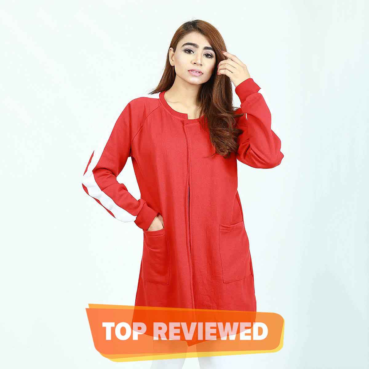 Select Red Sleeves Panel Style Casual Upper (Free Size) - C04SL