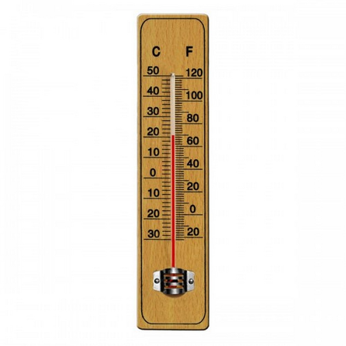 Wall Thermometer Wood For Room Temperature Meter
