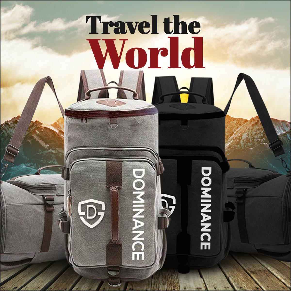 45-L Trekking Backpack Bag for men travelling and hiking bag, Gym Bag Grey & Black Travel Bag  Weekend Luggage Tour Bag,Backpack Bag for Men Women