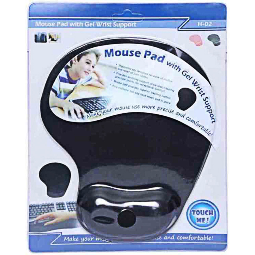 Mouse pad with gel wrist support Mouse pad Medium Size For Gaming, Office, Home Smooth Surface Gaming Mouse Pad (Wrist Rest Memory Foam)
