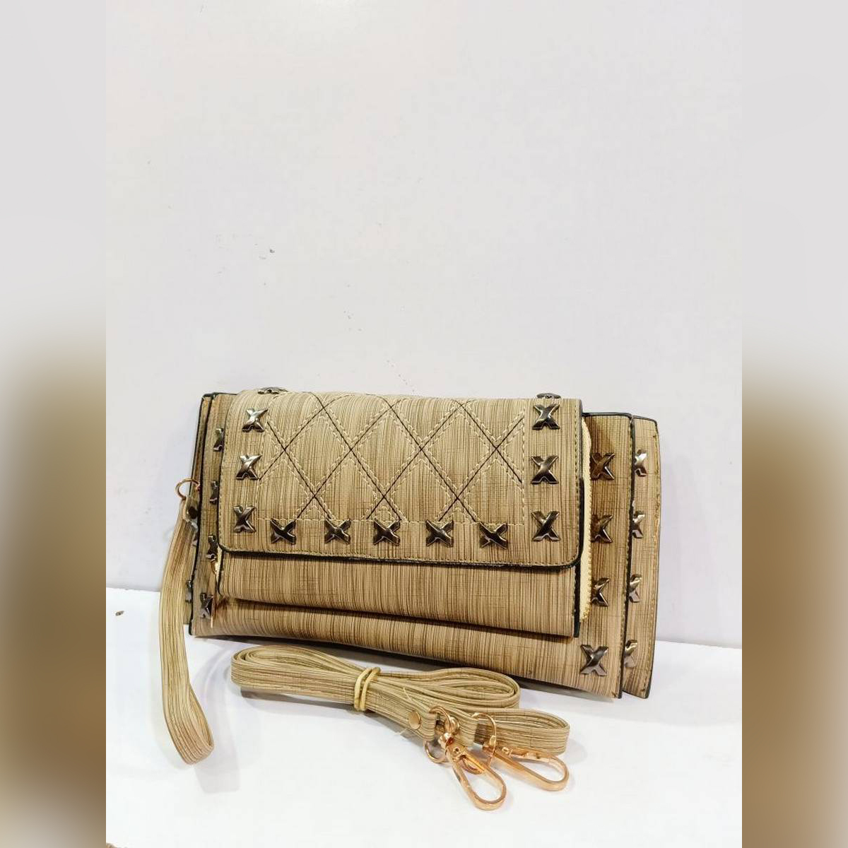 High Quality Pu Leather Material XL size Shoulder Carry Clutch,Hand Carry & Shoulder Carry Clutch