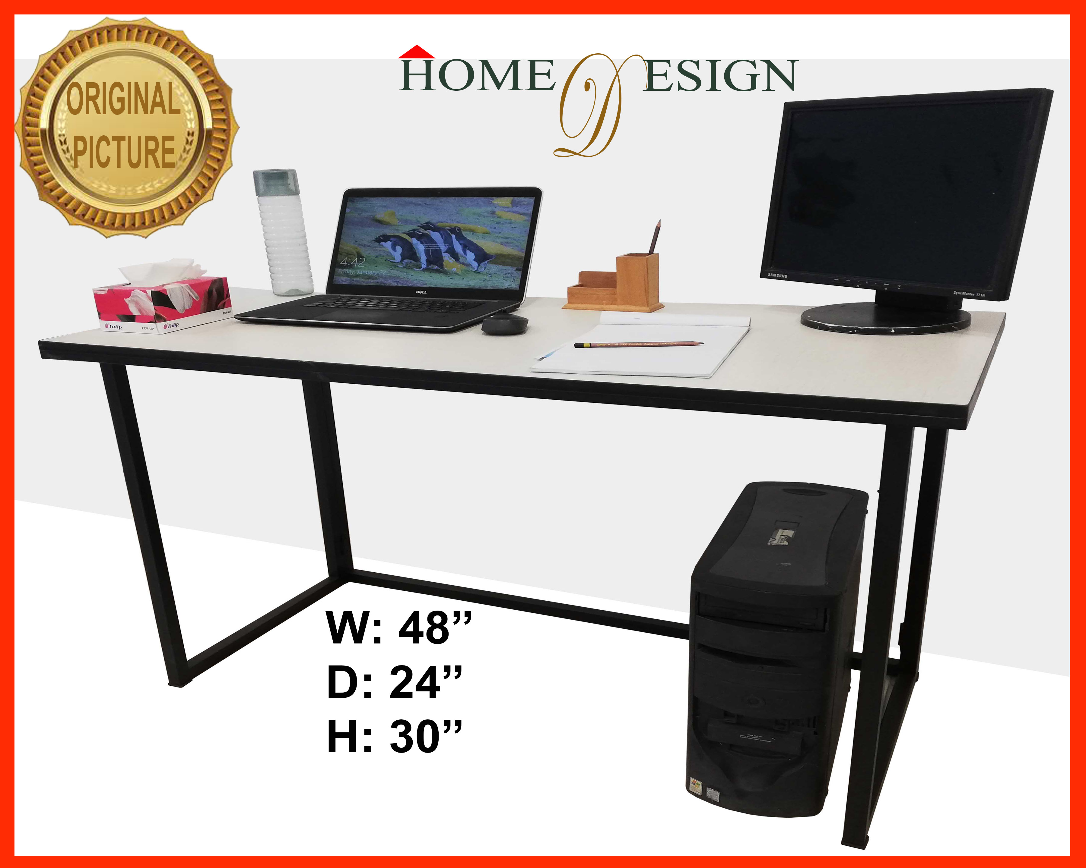 Folding Office Table Computer Table Study Table White 48x24