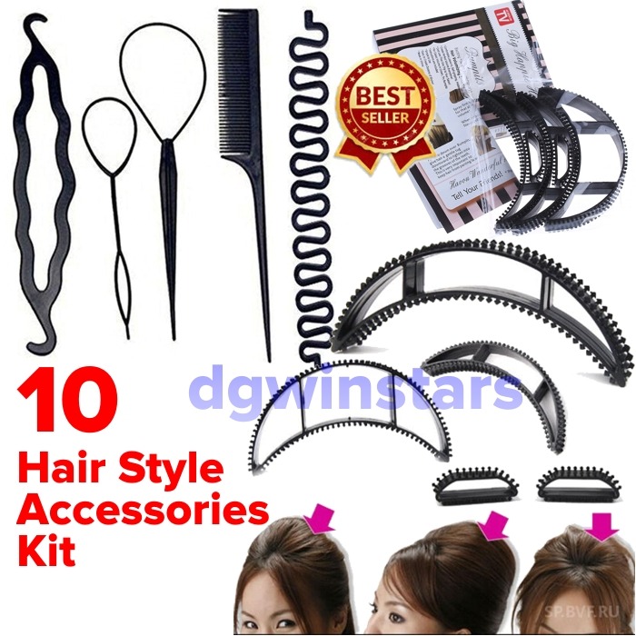 Hair Styling Tools Now Easily Style Your Hair At Home Hair Accessories Easy Styling Tool (Set Of 10 Pcs)