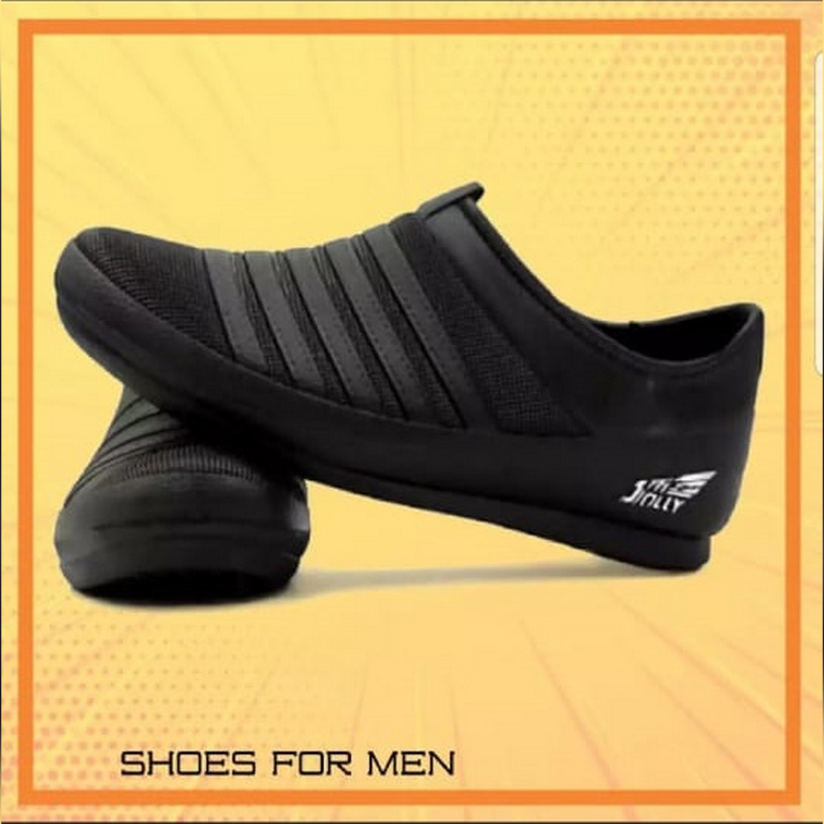 Black Rubber Jolly New Arrival Stylish Rubber Shoes