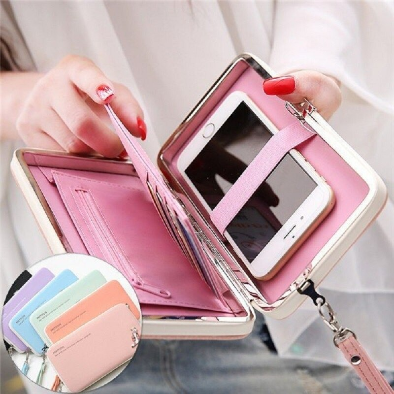 New Fashion Hand Purse Ladies Long Wallet Women Clutch girls purse card holder coin purse Mobile bag pouch  Mobile Phone Case Bag For Shopping and Travelling