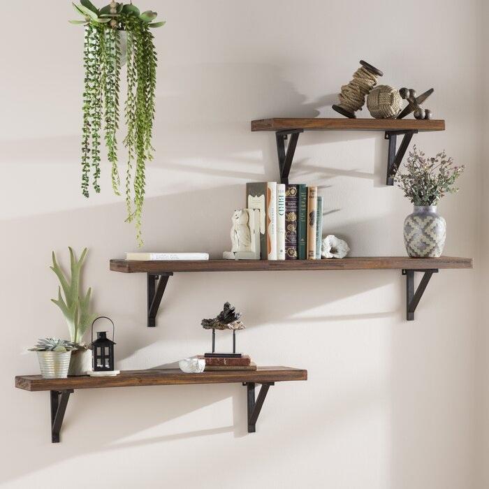 Wall Mounted Floating Shelves,Book Shelf,Display Ledge, Storage Rack for Room/Kitchen /Office