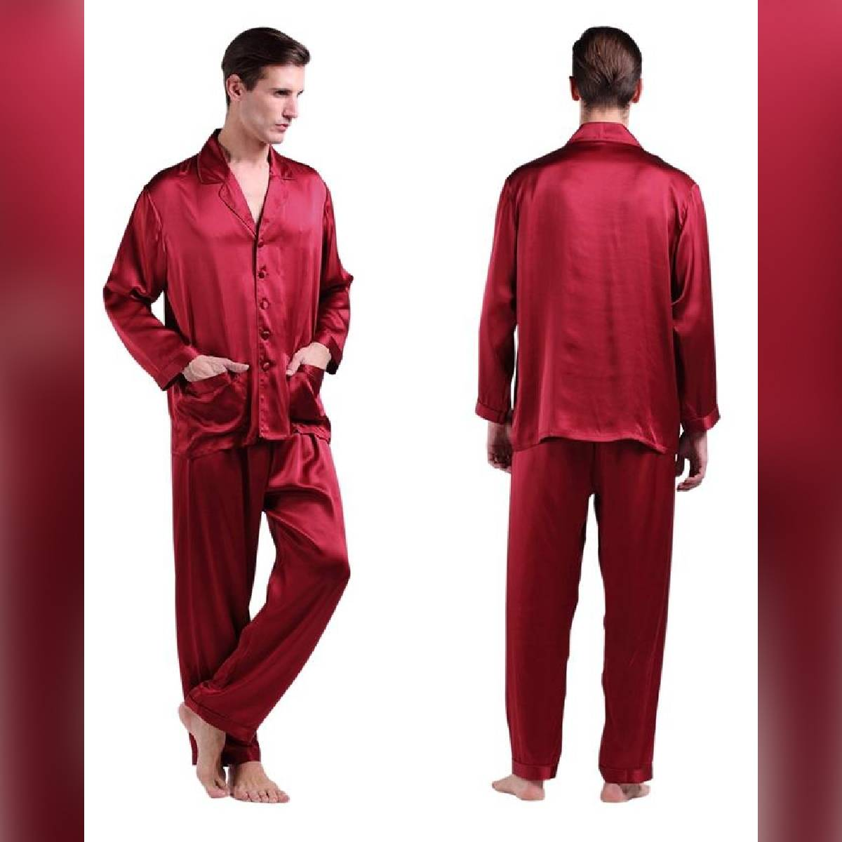 Sebastian silky comfy satin pajama set comfy nightwear