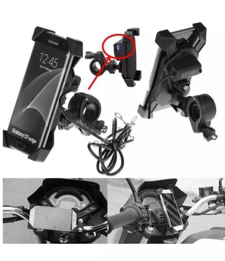 Bike Mobile Plastic Holder With Charger