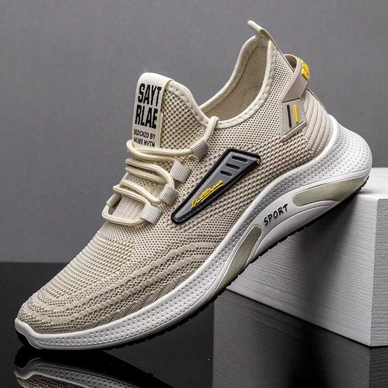 Men's Fashion Sneakers Breathable Shoes For Men Air Mesh LaceUp Sports Shoes