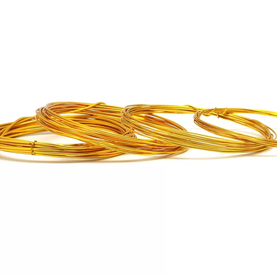 10 meter 0.6mm Aluminum Beading Wire gold  silver for Jewelry Design Making DIY Handmade craft Supplies