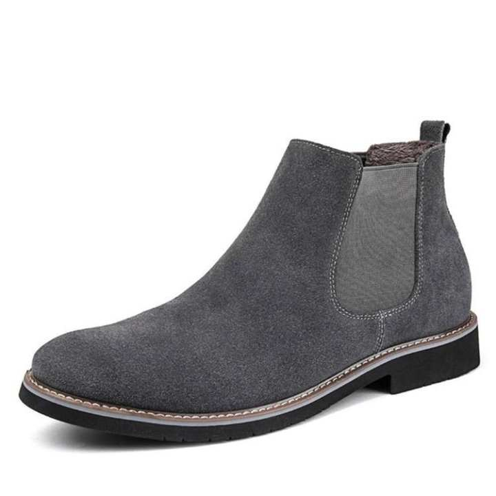 Fashion Mens Slip On Suede Chelsea Ankle Boots Cotton Casual Warm Desert Casual Shoes
