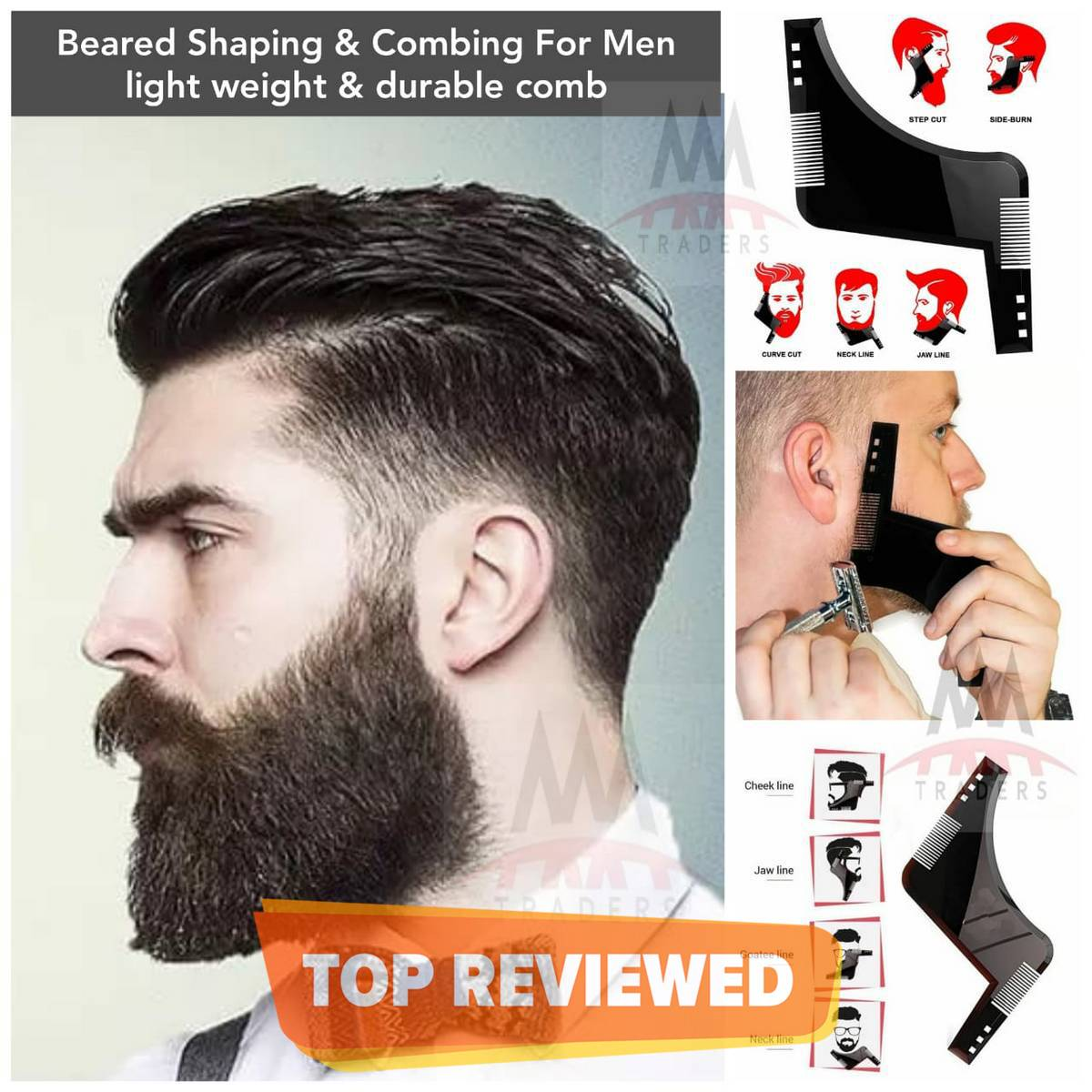 Beard Shaper Beard Comb Shaping Tool