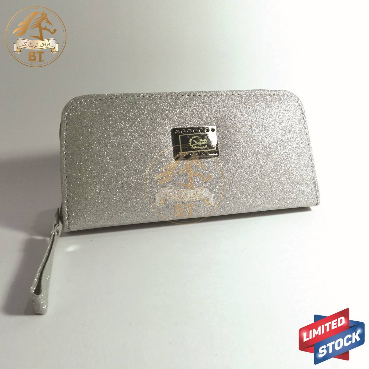 Silver Glitter Evening Hand Purse for Girl's Women's Wedding, Party, Events Purse - 19cm x 9cm x 3cm