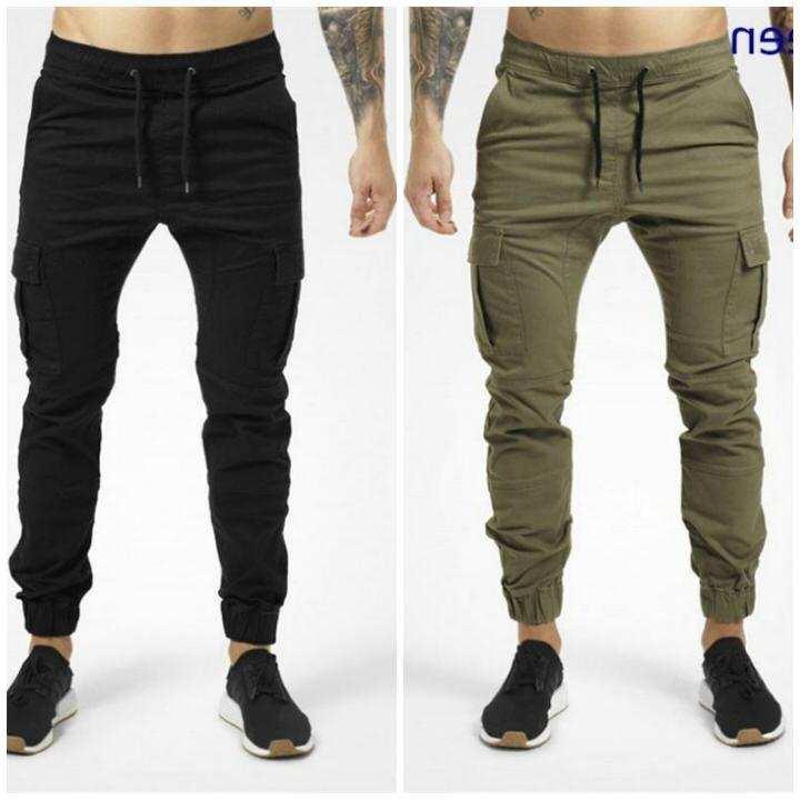 Pack of 2 Fashionable Side Pocket Slim Fit Trouser For Men