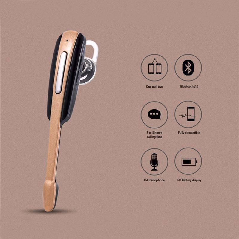 (Four Colors) HM1000 Wireless 4.1 Litchi Pattern Bluetooth Headset Ear Hook Sports Bluetooths Handsfree Earphone Headphone For Smart Phone: Buy Online at ...