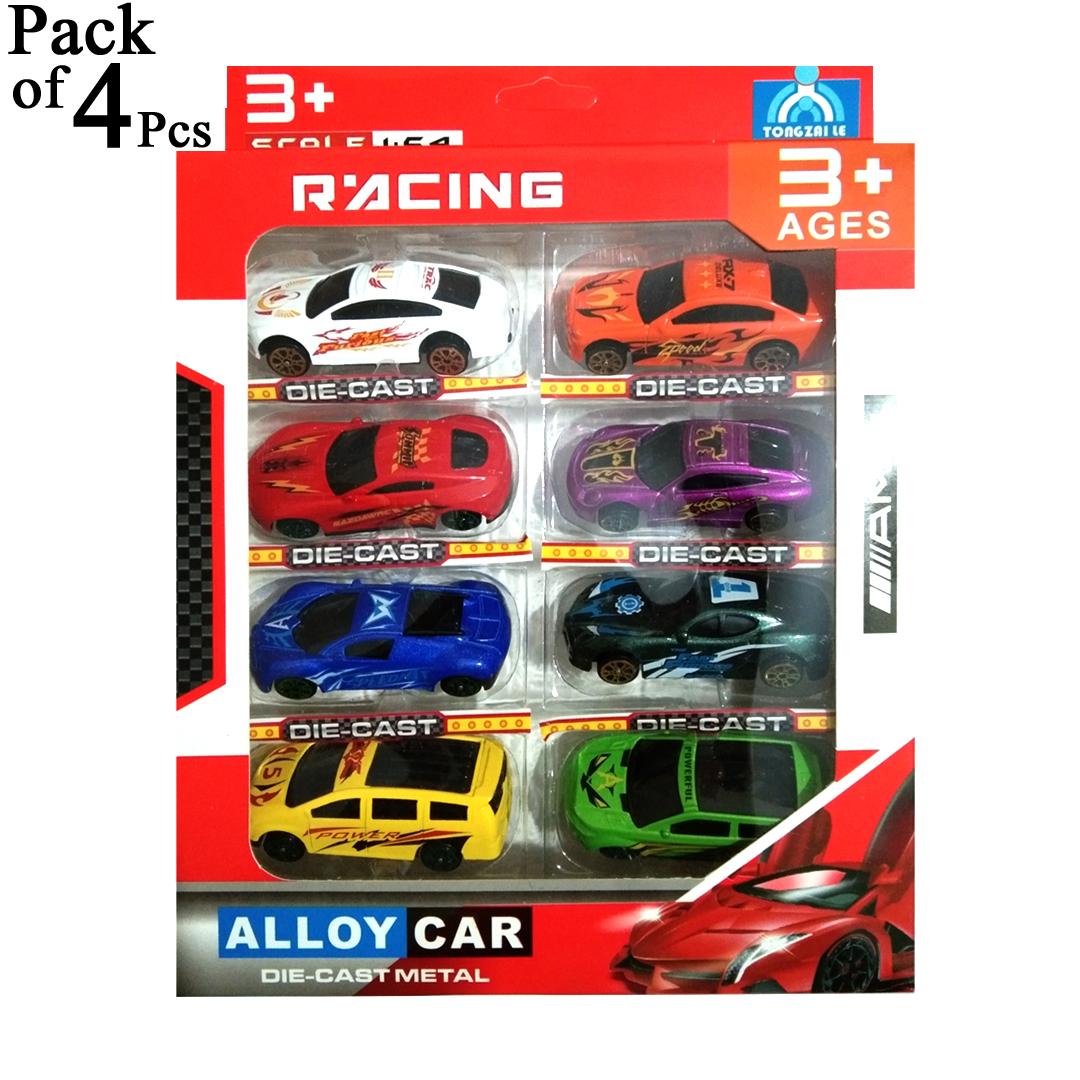 Pack of 4 Pcs - Original Die Cast Metal Car Set Toys For Kids and Boys Diecast Toys