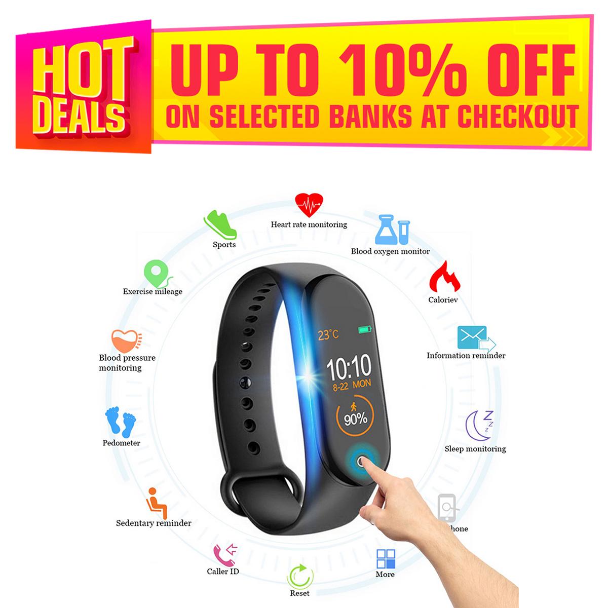 M3 Smart Watch 3 Fitness Tracker Watch Sport bracelet Heart Rate Blood Pressure Smartband Monitor Health Wristband PK Mi Band 4 5