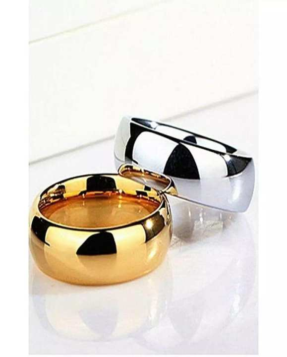 Gold plated Golden Ring & Silver Ring (PACK OF 2)