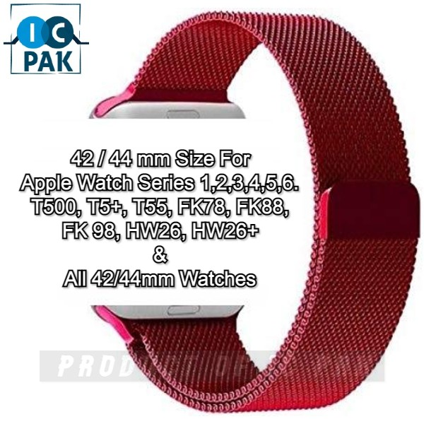 T500 T55 fk78 Apple Watches 38mm/40mm/42mm/44mm Watch Milanese Magnetic Loop Steel Band Smart Strap Sports Look