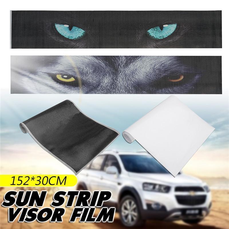 60/'/'x12/'/' Sun Strip Visor Premium Vinyl Decal Windshield Cast Film Stickers