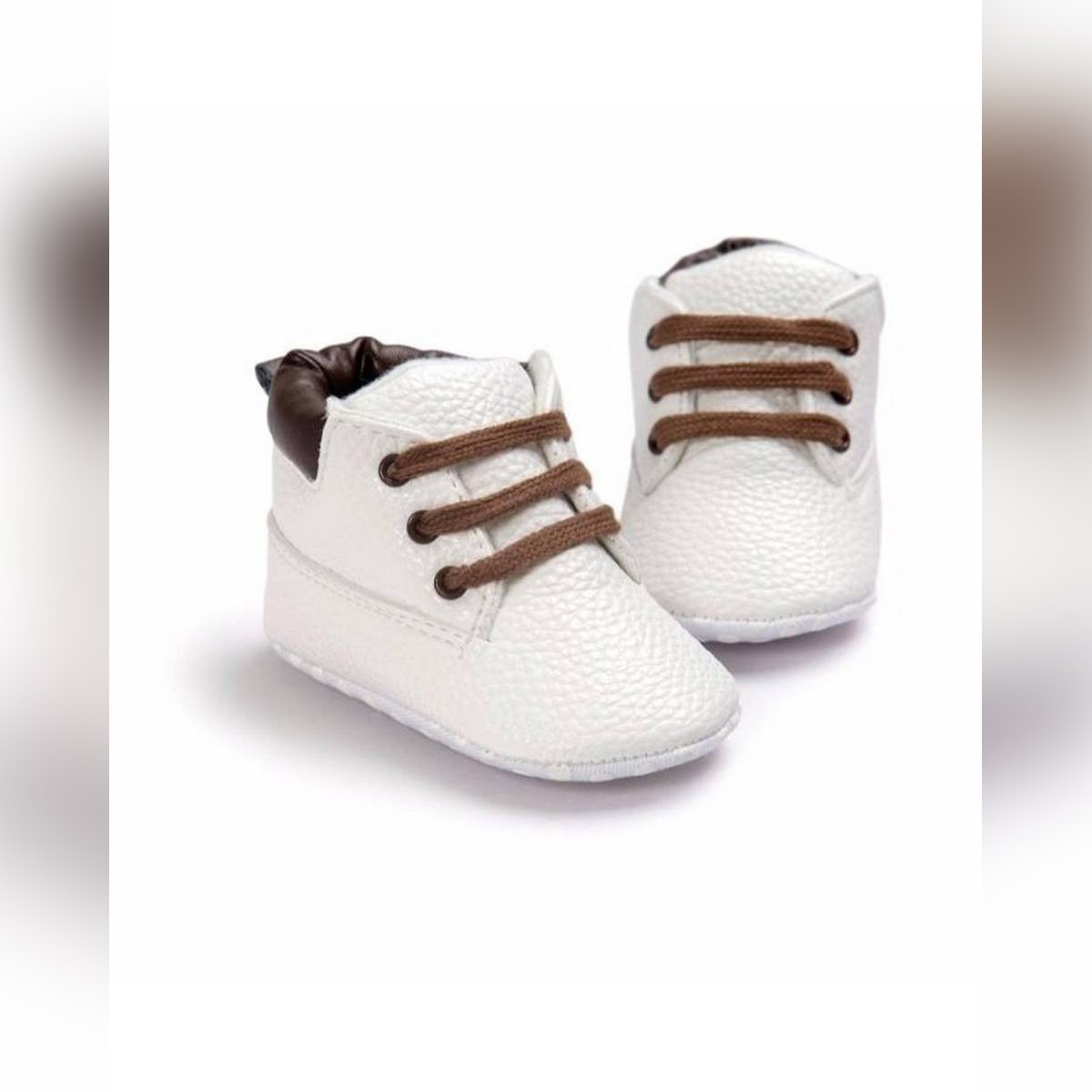 Toddlers Shoes Lace-Up Soft Bottom Cotton First Walker Sneakers 6 To 12 Months