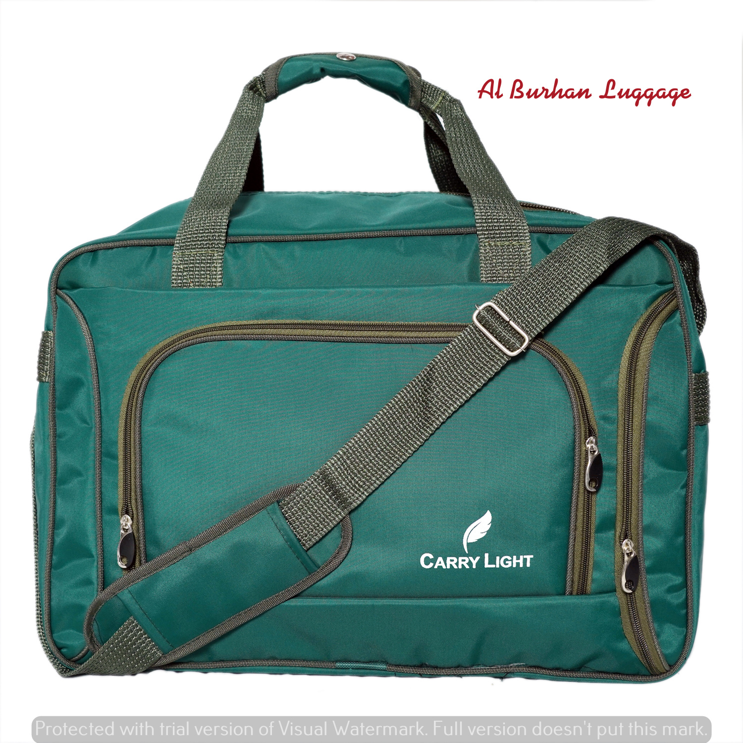 CARRY LIGHT Outdoor Waterproof Nylon Rubber Sports Gym Bags, Men Women Training Fitness Travel Handbag, Sport Bag with shoes Compartment,Outdoor Travel Sport Bag Multifunction - GREEN