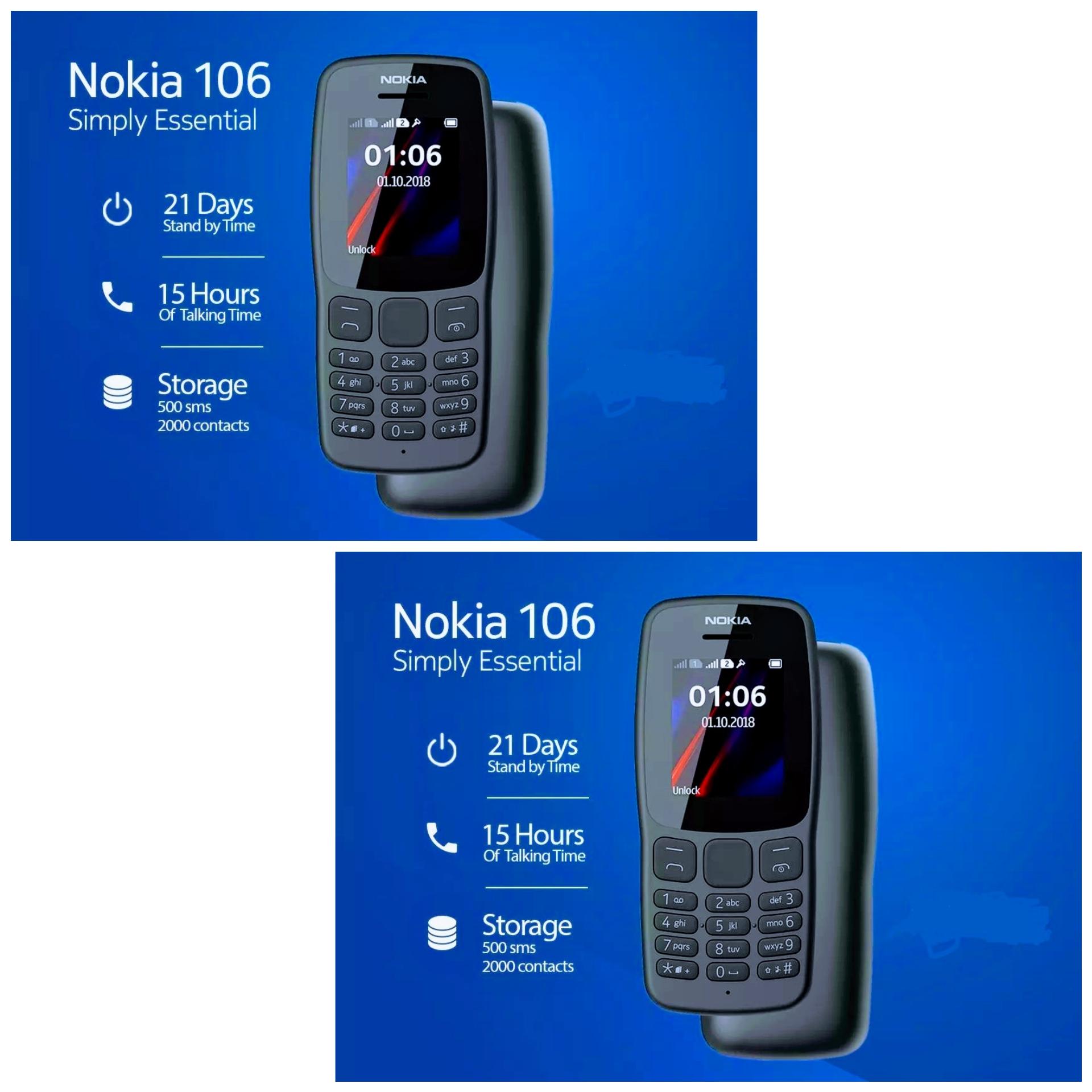 Nokia 106 2018 dark grey (BUNDLE OF 2) (ADVANCE TELECOM WARRANTY)