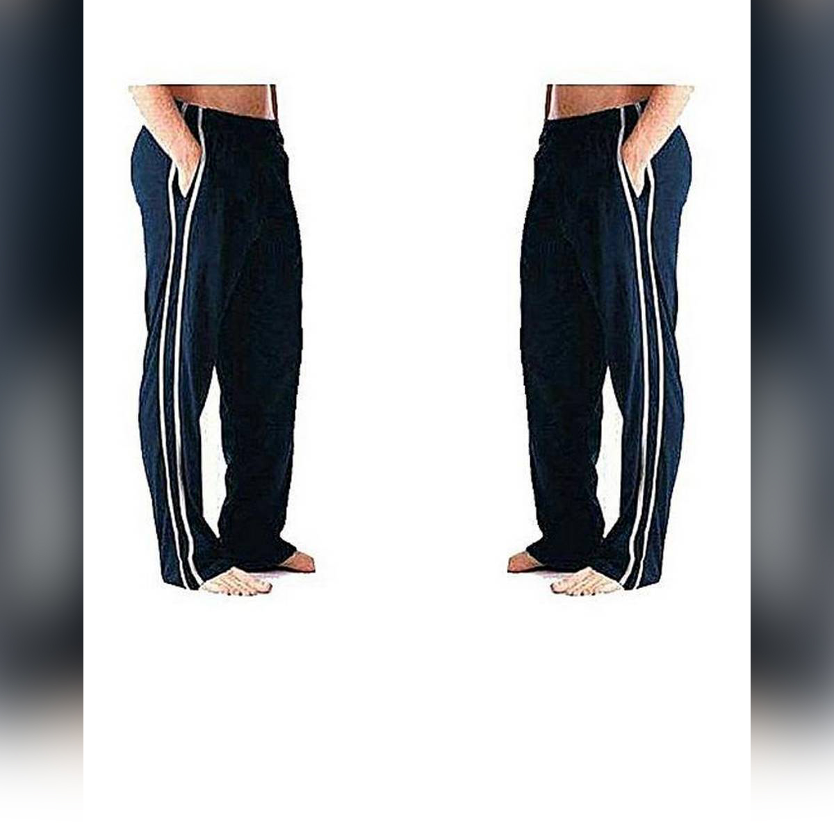 Mens Cotton Jersey Trouser (2 Pack)