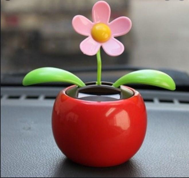 Car Decoration Solar Powered Dancing Flower Swinging Animated Dancer Toy Hot Sale