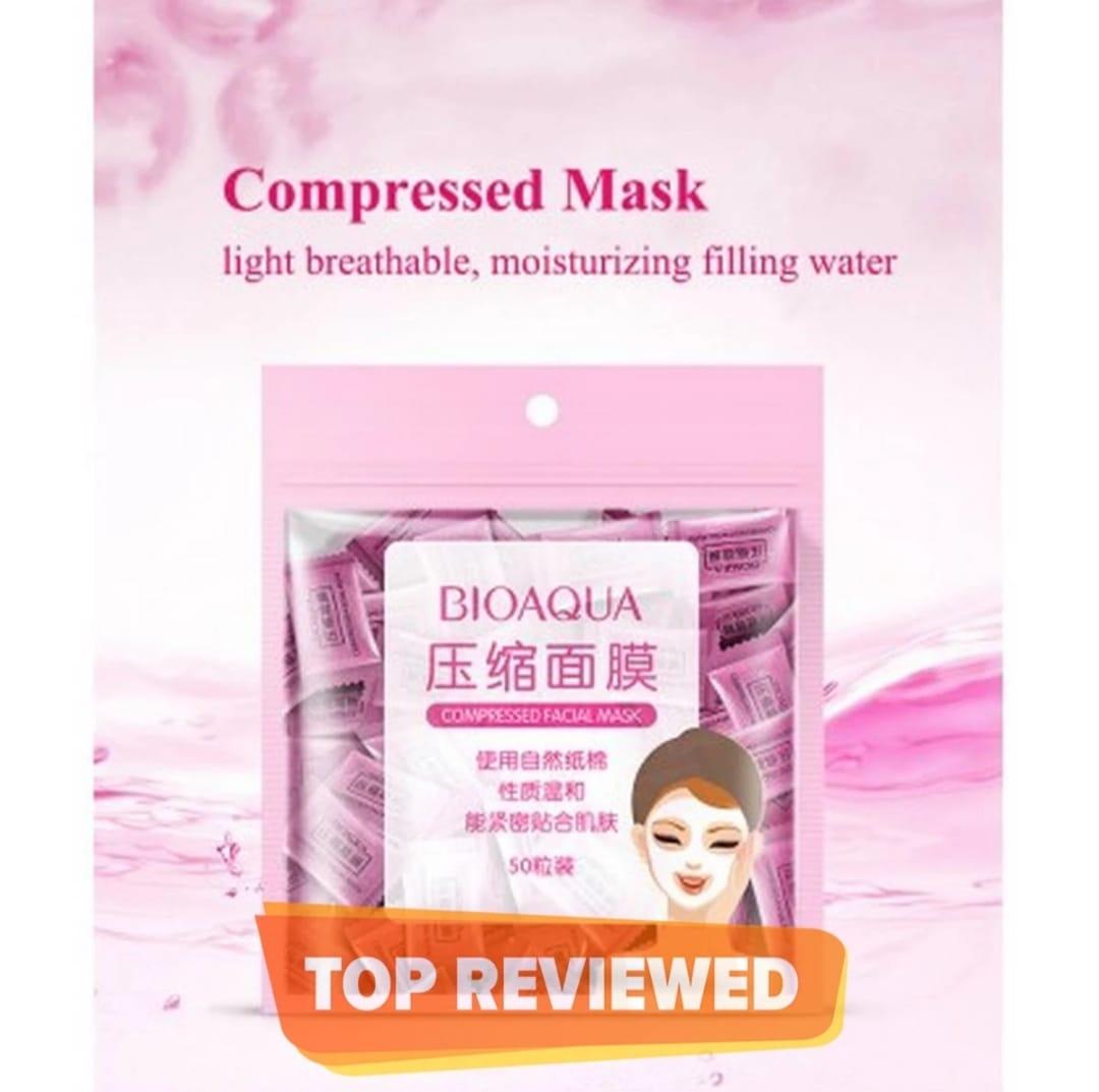 BIOAQUA Compressed Facial Tablet Face Sheet Mask 25/50/100Pcs